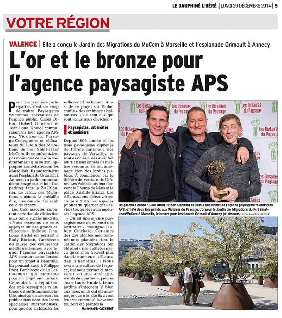 Revue de presse for Agence aps paysage