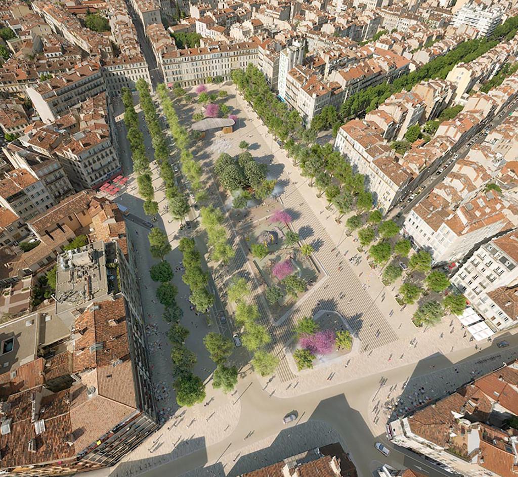 Marseille place jean jaur s l agence aps laur ate for Agence aps paysage