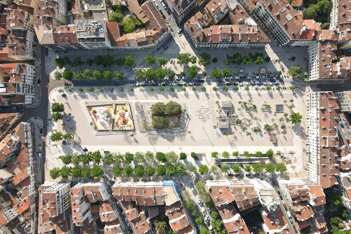 Ouverture au public de la place Jean Jaurès, La Plaine à Marseille